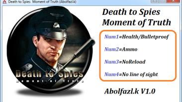 Death to Spies Moment of Truth: Трейнер/Trainer (+4) [1.0] {Abolfazl-k}