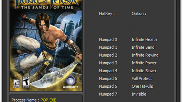 Prince of Persia - The Sands of Time: Трейнер/Trainer (+8) [1.0 -1.0.0.181] {Enjoy}