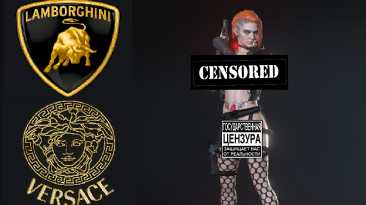 "Resident Evil 3 ""Киберпанк Джилл Lamborghini & Versacce эмблемы"""