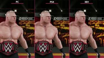 WWE 2K18 - Сравнение PC vs. PS4 vs. Xbox One (Candyland)