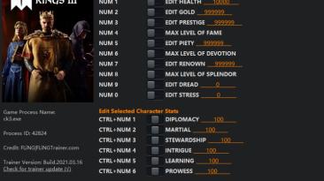 Crusader Kings 3: Трейнер/Trainer (+16) [1.0 - 1.3.0] {FLiNG}