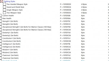 Baldurs Gate 2 - Enhanced Edition: Таблица для Cheat Engine [2.5.16.6/UPD:05.05.20] {gideon25}