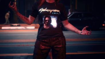 """Cyberpunk 2077 """"Анимированная футболка - для мужчины и женщины Ви"""""""