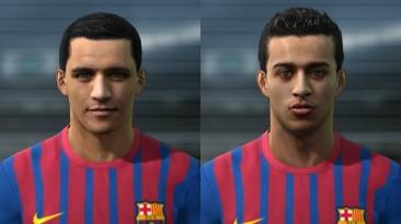 "PES 2011 ""Alexis Sanchez & Thiago Alcantara Face """