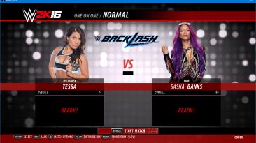 "WWE 2K16 ""Костюм для Tessa Blanchard с анимацией лица из WWE 2K19"""