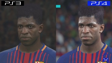 Pro Evolution Soccer 2018 PES | PS4 VS PS3 | Сравнение графики