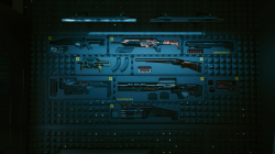 "Cyberpunk 2077 ""Все культовое оружие на стене в доме"""