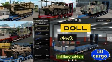 """Euro Truck Simulator 2 """"Военные грузы для низкорамника Doll Panther (в собственность) v1.3.5"""""""