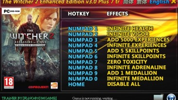 The Witcher 2 - Assassins of Kings Enhanced Edition: Трейнер/Trainer (+7) [3.0.20054.8512] {FLiNG}