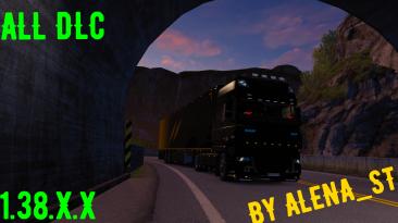 Euro Truck Simulator 2: Сохранение/SaveGame (Всё есть, всё открыто, 100% дорог) [ALL DLC] [1.38.X.X]