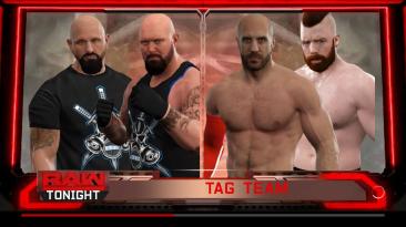 "WWE 2K17 ""Фон RAW Match Card"""