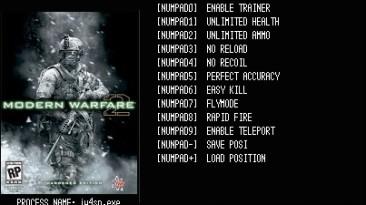 Modern Warfare 2: Трейнер/Trainer (+9) [v.1.0 build 159] {LIRW / GHL}