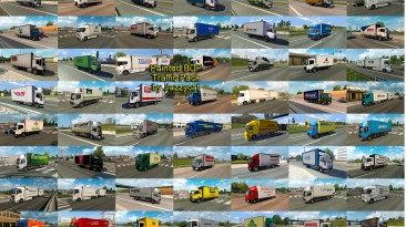 """Euro Truck Simulator 2 """"Пак БДФ со скинами реальных компаний в траффик v9.6"""""""