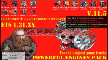"""Euro truck simulator 2 """"Звуковой мод Pack Powerful engines + gearboxes v14.0 (1.40.x)"""""""
