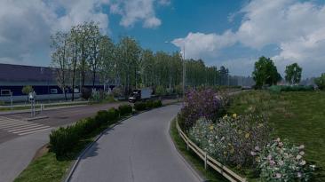 "Euro Truck Simulator 2 ""Весенняя погода v4.0 (1.40.x)"""
