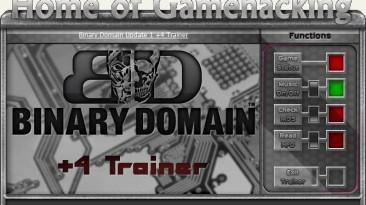 Binary Domain: Трейнер/Trainer (+4) [Update 1] {HoG/sILeNt heLLsCrEAm}