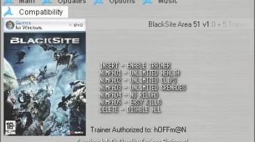 BlackSite - Area 51: Трейнер (+5) [1.0] {h4x0r}