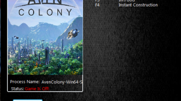 Aven Colony: Трейнер/Trainer (+4) [1.0.20155] {MrAntiFun}