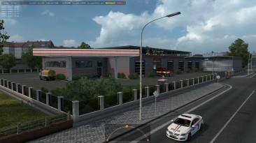 """Euro Truck Simulator 2 """"Новые Префабы Старый Европейский Гараж ETS2 1.35.x"""""""
