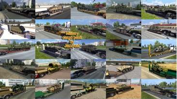 """Euro Truck Simulator 2 """"Пак прицепов с военной техникой v4.9"""""""