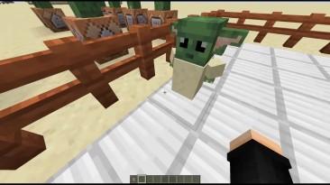 "Моддер добавил в Minecraft ""малыша Йоду"""