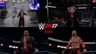 "WWE 2K17 ""Edge SummerSlam 2021(Лицевая анимация) WWE 2K19 Порт Мод"""