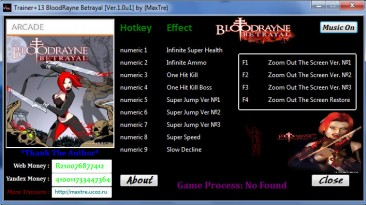 BloodRayne Betrayal: Трейнер/Trainer (+13) [1.0u1] {MaxTre}