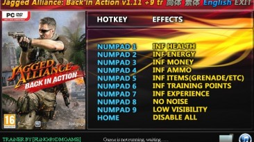 Jagged Alliance - Back in Action: Трейнер/Trainer (+9) [1.11] {FLiNG}