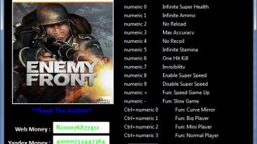 Enemy Front: Трейнер/Trainer (+16) [3.4.4.6290-Upd.3 / 32-Bit] {MaxTre}