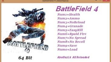 Battlefield 4: Трейнер/Trainer (+9) [1.7 build 104788] {Abolfazl.k}