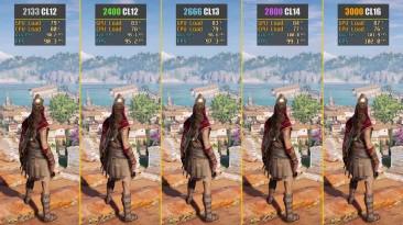 Тестирование ОЗУ в Assassin's Creed Odyssey 2133MHz vs. 2400MHz vs. 2666MHz vs. 2800MHz vs. 3000MHz