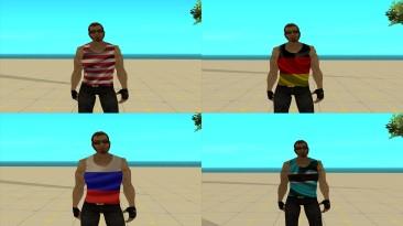 "Grand Theft Auto: San Andreas ""Сборник скинов Чувака из Постала в майке с флагом"""