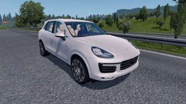 "Euro Truck Simulator 2 ""Porsche Cayenne Turbo S 2016 v5.1 (1.40.x)"""