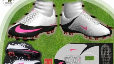 "PES 2009 ""Nike MV SuperFly White-Black-Pink by el_gordito"""