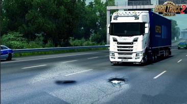 """Euro Truck Simulator 2 """"Выбоины на Дорогах v1.0 (v1.38.x - 1.39.x)"""""""