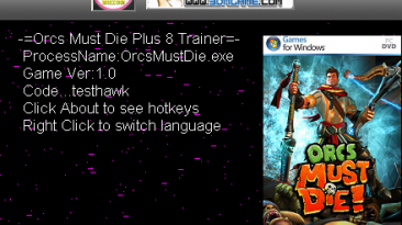 Orcs Must Die!: Трейнер/Trainer (+8) [All Versions: 1.0r6/1.0r7/1.0r8 and Others] {testhawk}