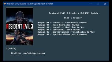 Resident Evil 3: Remake: Трейнер/Trainer (+6) [UPD:10.2020] {mobie}