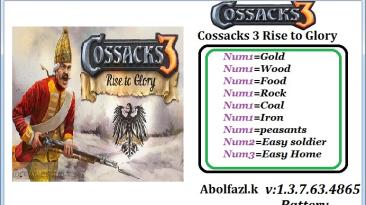Cossacks 3: Трейнер/Trainer (+3) [1.3.7.63.4865] {Abolfazl.k}