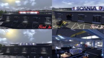 "Euro Truck Simulator 2 ""Большие гаражи стандартных марок грузовиков"""