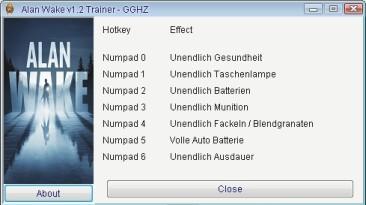 Alan Wake: Трейнер/Trainer (+7) [1.02.16.4261/Update 2] {GGHZ}