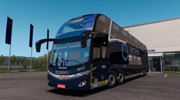 "Euro Truck Simulator 2:""Мод Marcopolo Paradiso New G7 1800 DD 8x2 / 6x2 для (1.39.x)"""