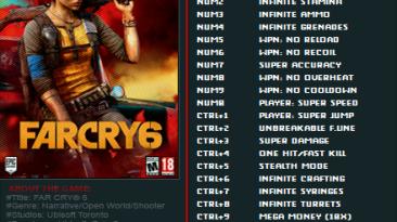 Far Cry 6: Трейнер/Trainer (+22/+25) [1.1.0] {FutureX}