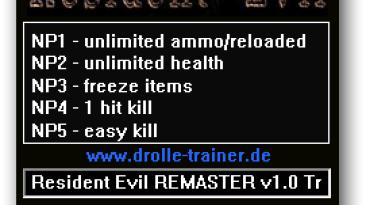 Resident Evil / Biohazard HD REMASTER: Трейнер/Trainer (+5) [1.0] {dR.oLLe}
