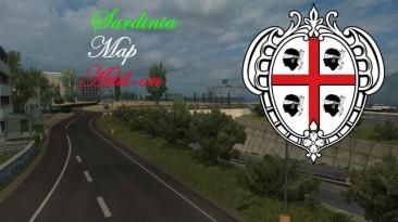 """Euro Truck Simulator 2 """"Sardinia Map Add-on версия 0.9.1 (v1.32.x)"""""""