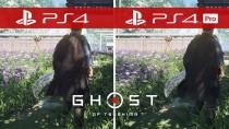 Сравнение графики Ghost of Tsushima на PS4 и PS4 Pro