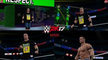 "WWE 2K17 ""John Cena SummerSlam 2021 Наряд (Лицевая анимация) WWE 2K19 Порт Мод"""
