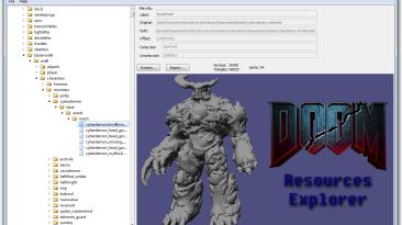 """Doom 4 """"DooM Resources Explorer 0.4"""""""