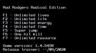 Rad Rodgers Radical Edition: Трейнер/Trainer (+7) [1.4.6498 (x64)] {LIRW / GHL}