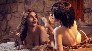Косплей Хоук и Изабелы из Dragon Age II