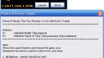 Prince of Persia: The Two Thrones : Трейнер (+2) [1.0.0.188] {live_4_ever}